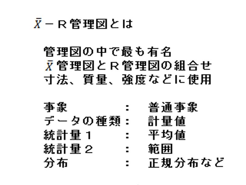 01 Xbar-R管理図とは